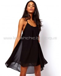 Chiffon Bareback Midi Dress