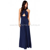 Tricks Of the Trade Navy Blue Maxi Dress (Convertible Dress)