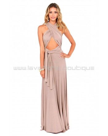 Tricks Of the Trade Nude Maxi Dress (Convertible Dress)