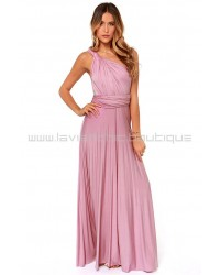 Tricks Of the Trade Pink Maxi Dress (Convertible Dress)