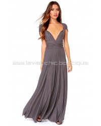 Tricks Of The Trade Dark Grey Maxi Dress (Convertible Dress)