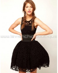Prom Dress In Lace With Elastic Waist