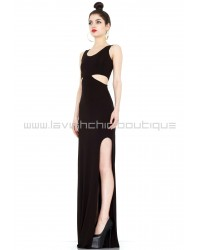 Tatiana Black Cut-Out Maxi Dress