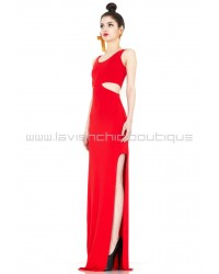 Tatiana Red Cut-Out Maxi Dress
