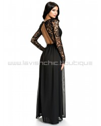 NLY Eve Long Sleeve Black Lace Dress