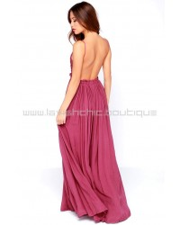 Blooming Prairie Crocheted Berry Pink Maxi Dress