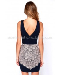 Lace Of Spades Black Lace Dress