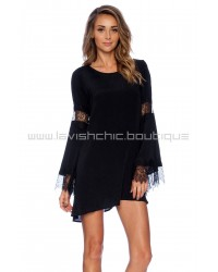 For Love & Lemons Black Festival Dress