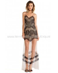 For Love & Lemons Antigua Maxi Dress In Black
