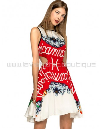 Alice Mccall Cut Out Floral Dress