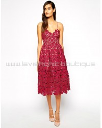 Self-Potrait Azaelea Dress In Red