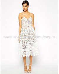 Self-Potrait Azaelea Dress In White