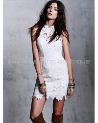 Saylor Jessa White Lace Dress