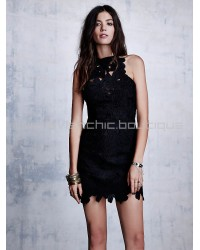 Saylor Jessa Black Lace Dress