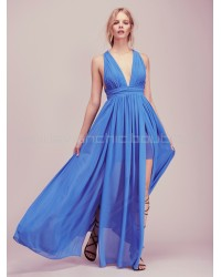Free People Blue Athea Drape Maxi