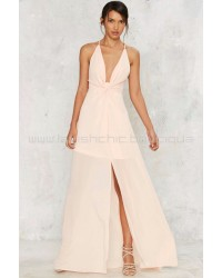 Nasty Gal Cecily Plunging Maxi Dress