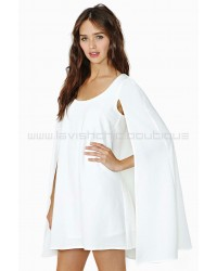 Nasty Gal Angel Cape Dress White