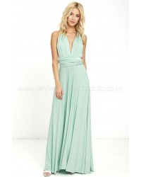 Tricks Of The Trade Light Sage Maxi Dress (Convertible Dress)