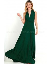 Tricks Of The Trade Forest Green Maxi Dress (Convertible Dress)