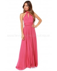 Tricks Of The Trade Rose Pink Maxi Dress (Convertible Dress)