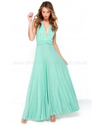 Tricks Of The Trade Mint Green Maxi Dress (Convertible Dress)