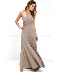 Tricks Of The Trade Taupe Maxi Dress (Convertible Dress)