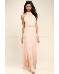Tricks Of The Trade Blush Pink Maxi Dress (Convertible Dress)