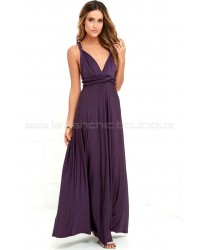Tricks Of The Trade Purple Maxi Dress (Convertible Dress)