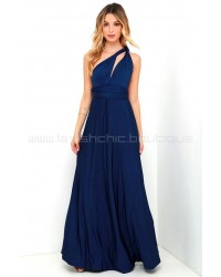 Always Stunning Convertible Navy Blue Maxi Dress (Convertible Dress)