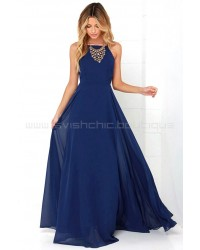 Mythical Kind Of Love Navy Blue Maxi Dress