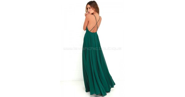 4687194066271 Mythical Kind Of Love Dark Green Maxi Dress