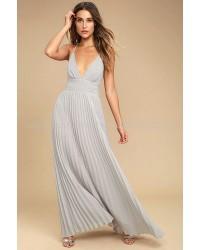 Blooming Prairie Crocheted Dusty Lavender Maxi Dress