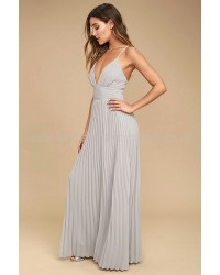 Depths Of My Love Grey Maxi Dress
