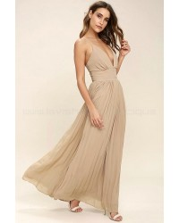 Depths Of My Love Nude Maxi Dress