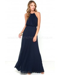 Bariano Melissa Navy Blue Maxi Dress