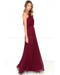 Bariano Melissa Burgundy Maxi Dress