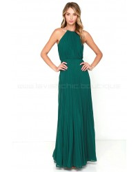 Bariano Melissa Dark Green Maxi Dress