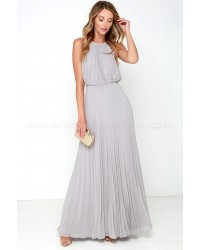 Bariano Melissa Light Grey Maxi Dress