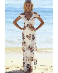 Secret Garden Maxi Dress Cream