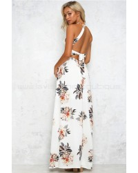 Heart To Heart Maxi Dress White