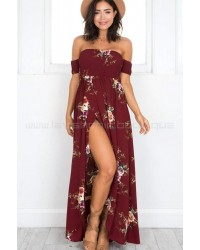 Inside Job Maxi Dress Burgundy Floral