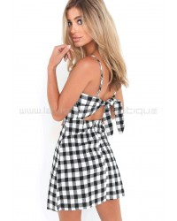 Gingham Dress Black