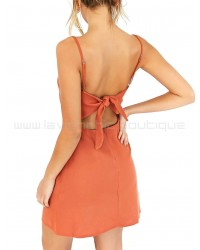 Tequila Sunrise Dress Orange