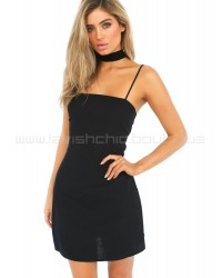 Tequila Sunrise Dress Black