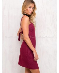 Tequila Sunrise Dress Wine Red