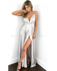 Catwalk Maxi Dress Silver