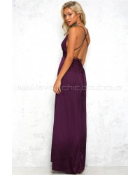 Catwalk Maxi Dress Purple