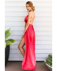 Catwalk Maxi Dress Brick