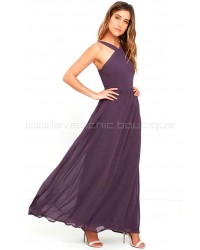 Air Of Romance Dusty Purple Maxi Dress