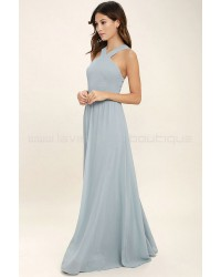 Air Of Romance Light Blue Maxi Dress